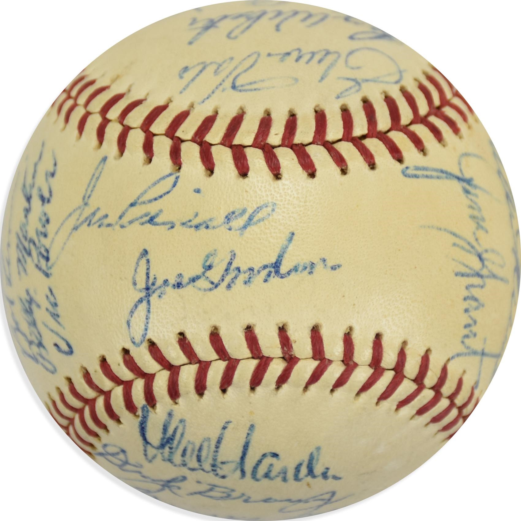 1959 Cleveland Indians Team Signed Baseball with Lemon and Billy Martin (PSA)