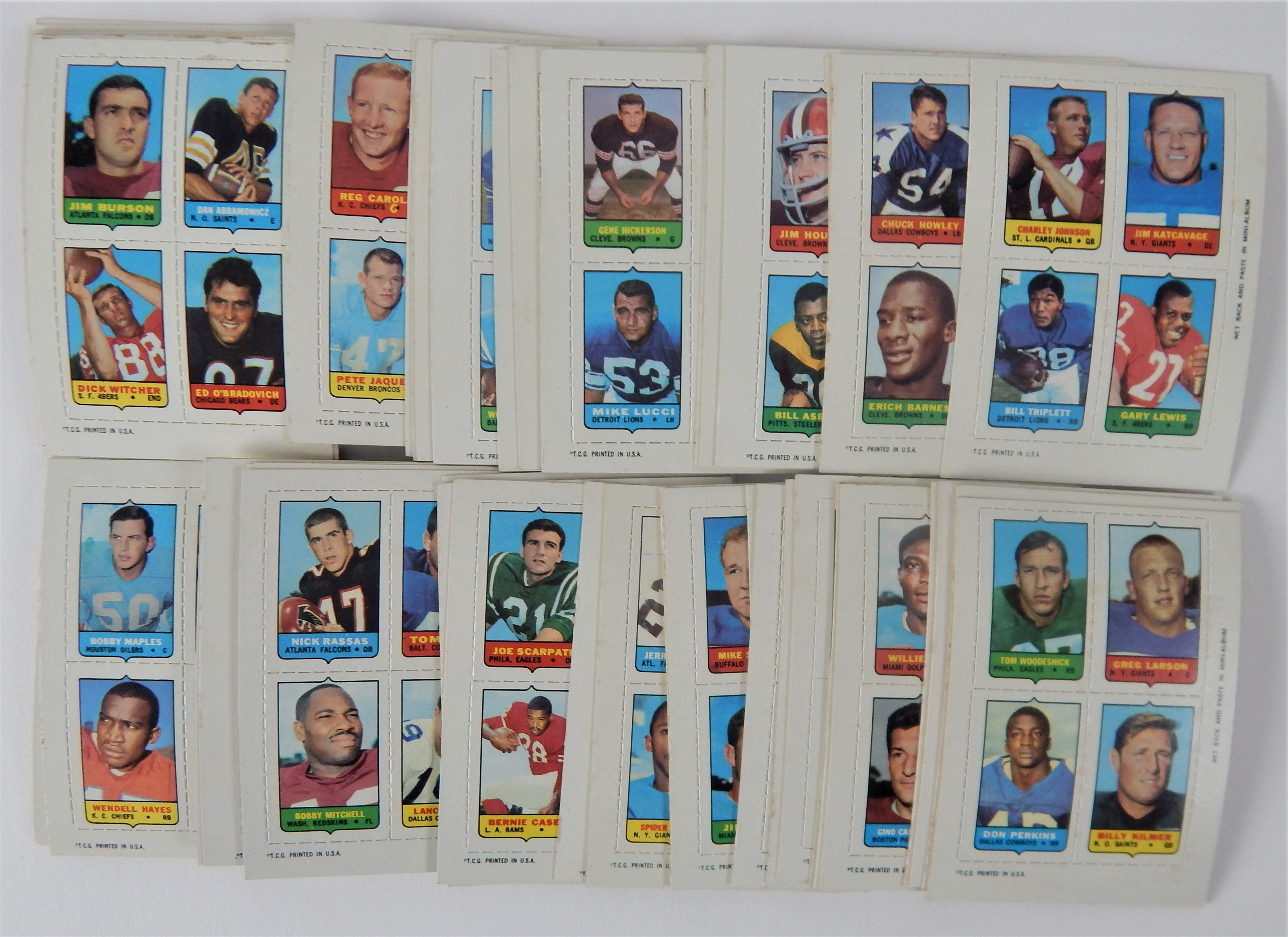 1969 Topps Football 4-in-1 Complete Set (66)