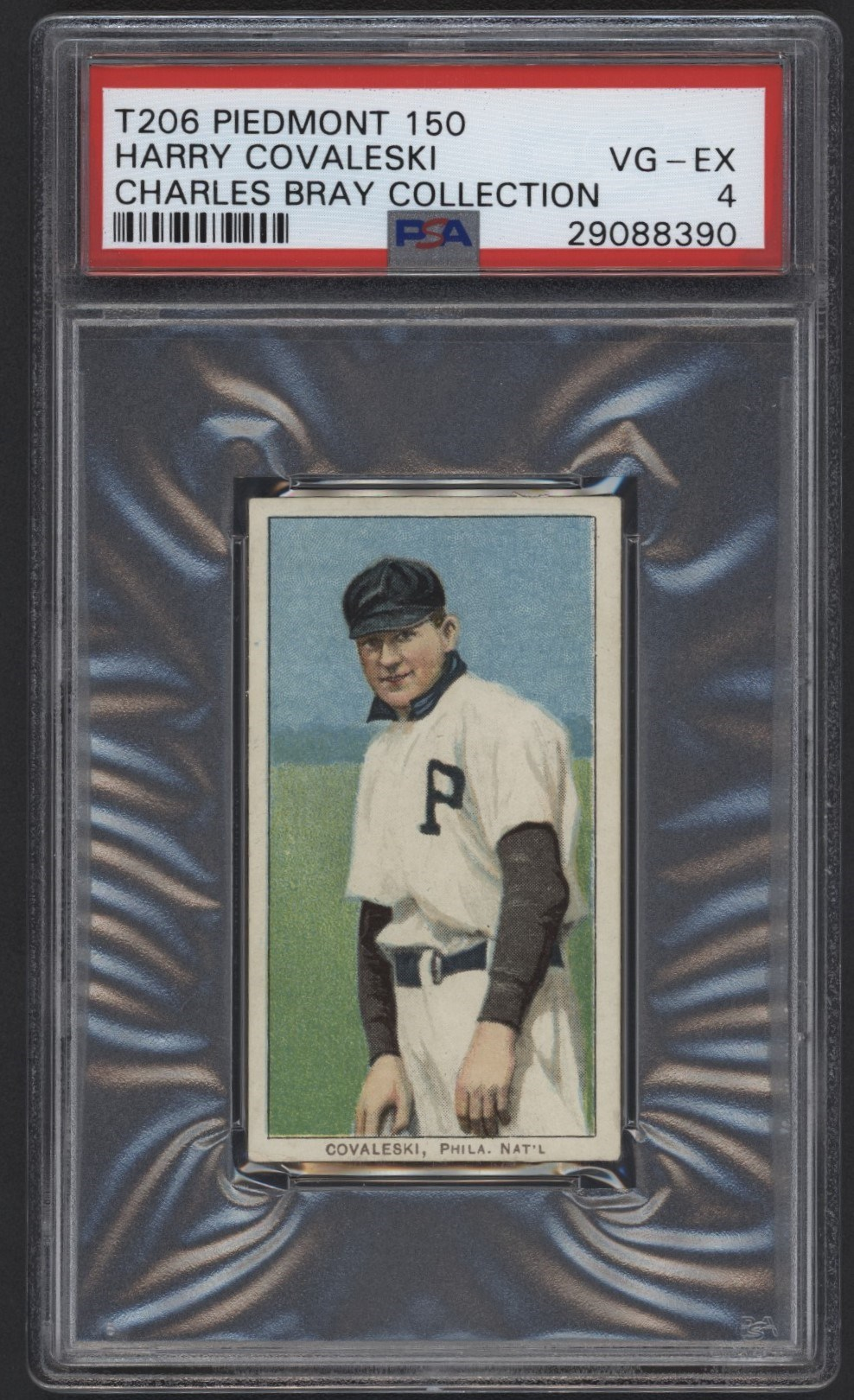 T206 Piedmont 150 Harry Covaleski PSA 4 From the Charles Bray Collection