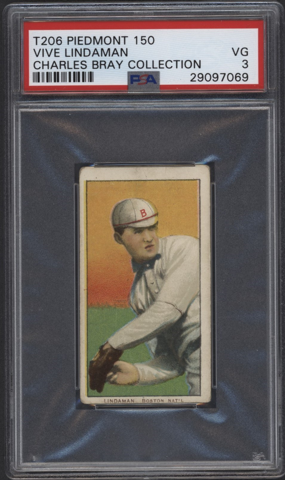 T206 Piedmont 150 Vive Lindaman PSA 3 From the Charles Bray Collection