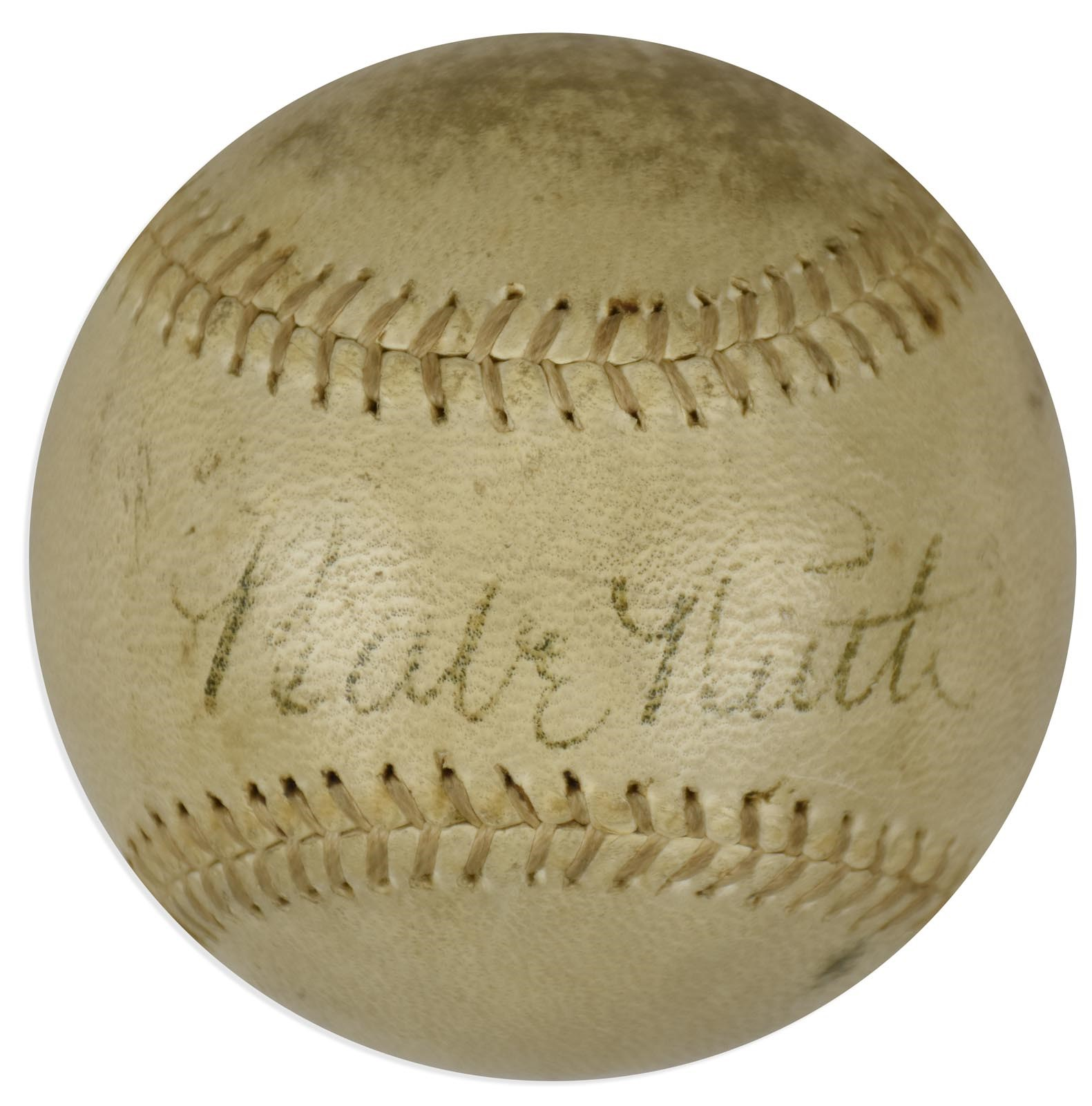 Circa 1945 Babe Ruth Single Signed Baseball (PSA)