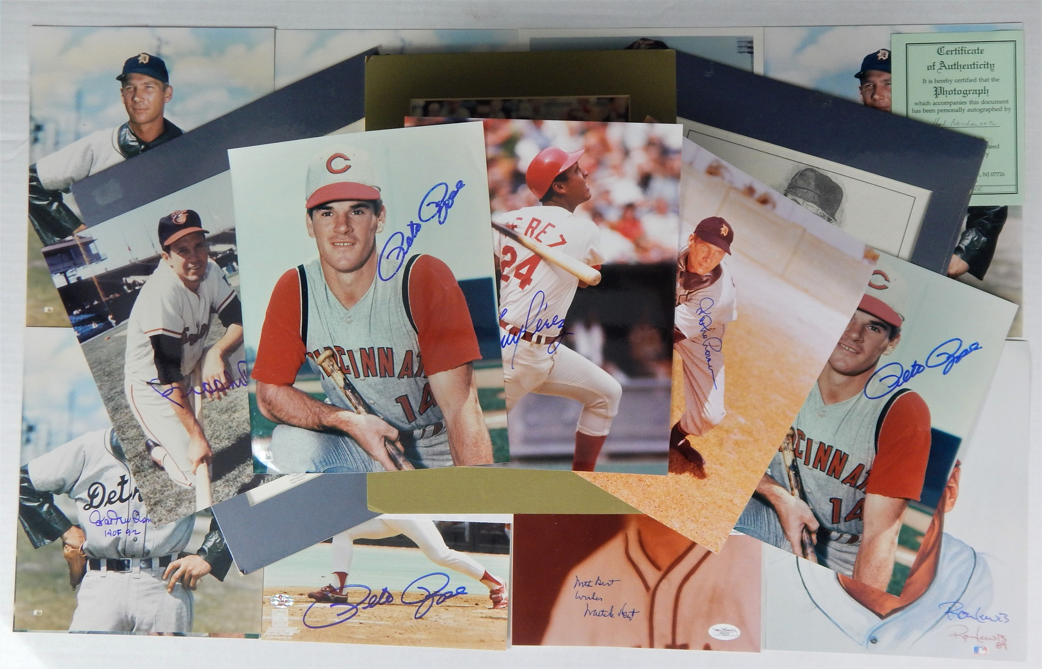 Hall of Fame Baseball Signed Photo Lot (21)