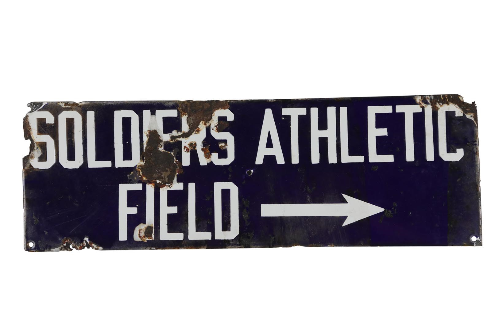 1930s Soldiers Field Enamel Stadium Sign