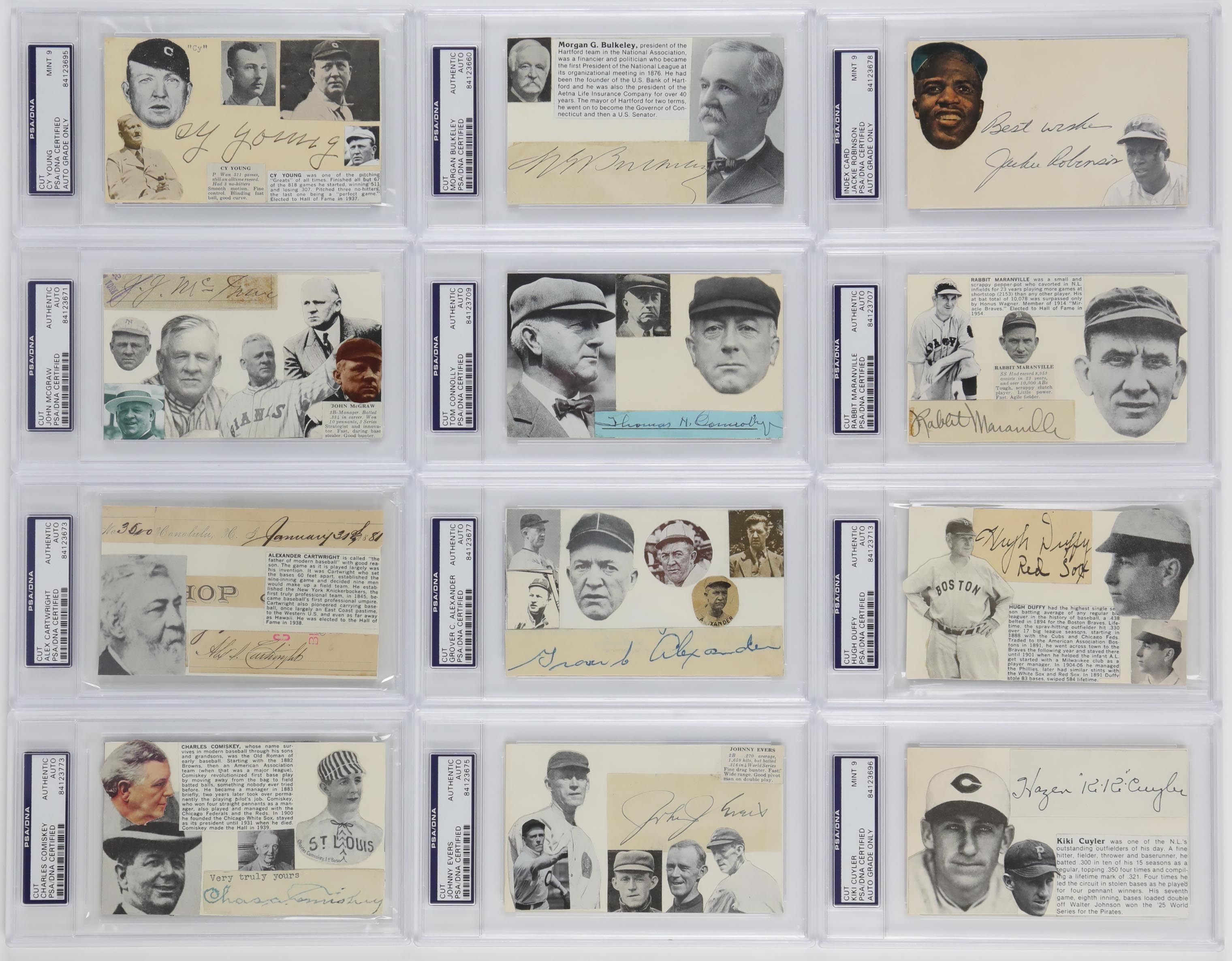 Exquisite Baseball Hall of Fame Signature Archive
