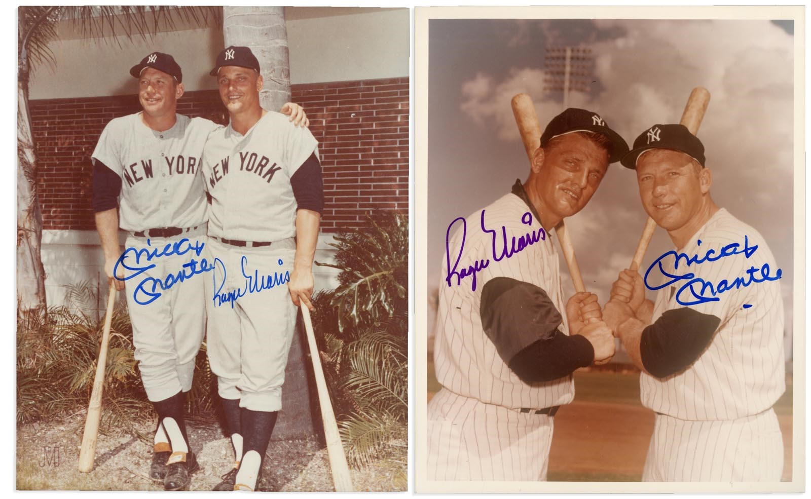 Mickey Mantle & Roger Maris Dual-Signed Photographs - All PSA Certified (5)