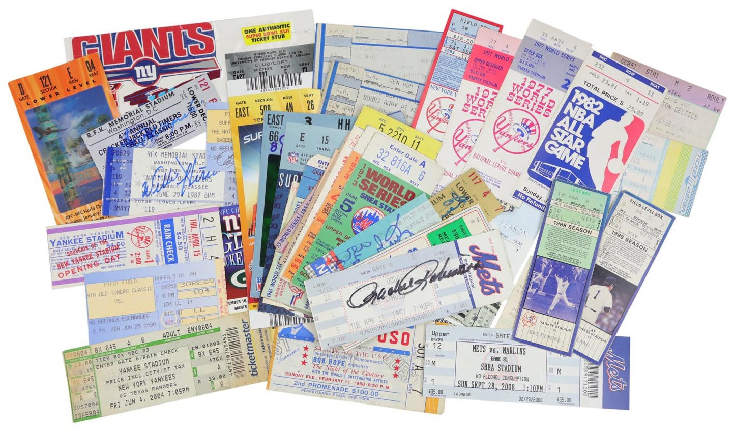 1950s-Present Multi Sport Ticket Collection w/World Series & Super Bowls - Many Signed (45+)