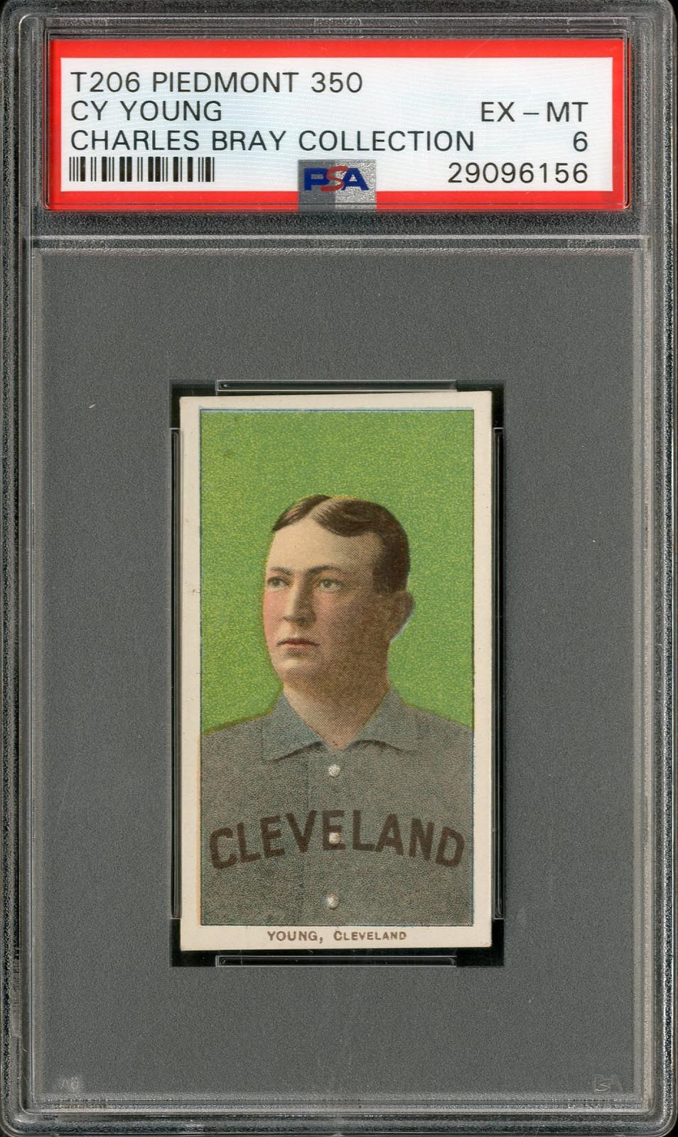 T206 Piedmont 350 Cy Young PSA EX-MT 6 Charles Bray Collection