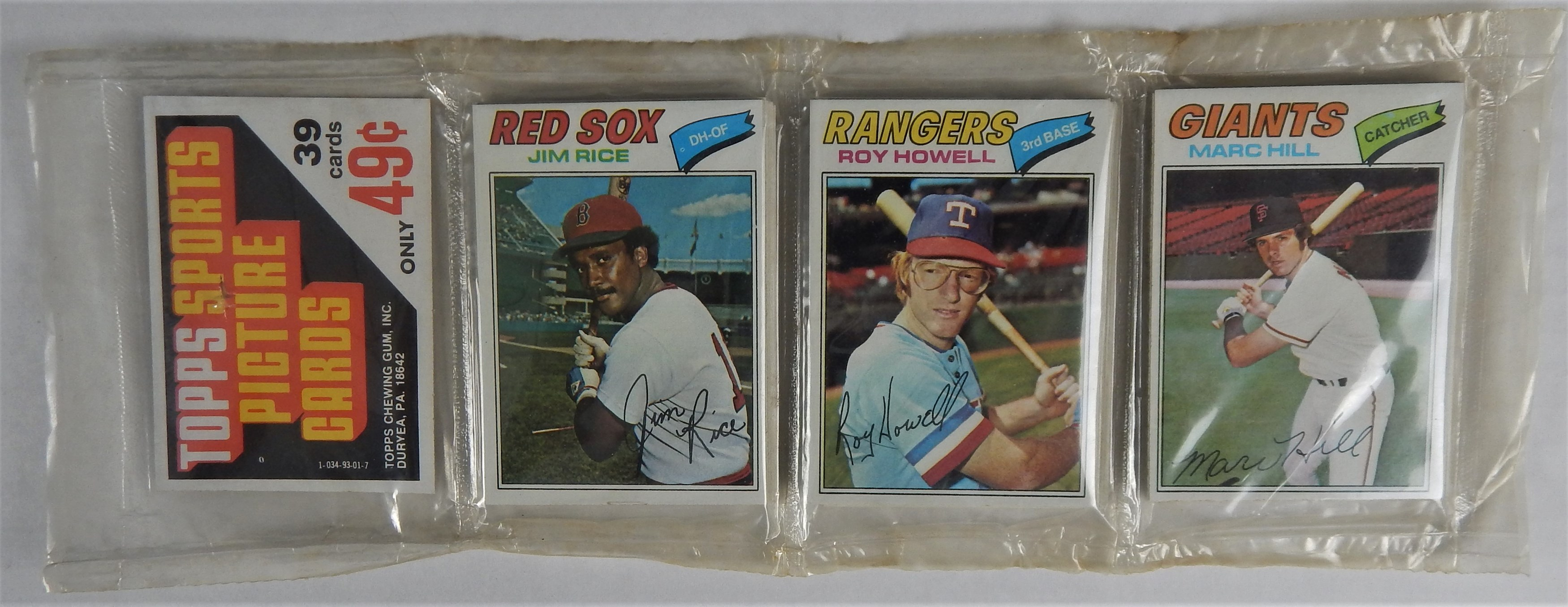 1977 Topps Baseball Rack Pack with Rose on The Back