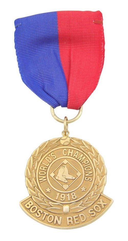 1918 World Champion Boston Red Sox Presentation Gold Medal