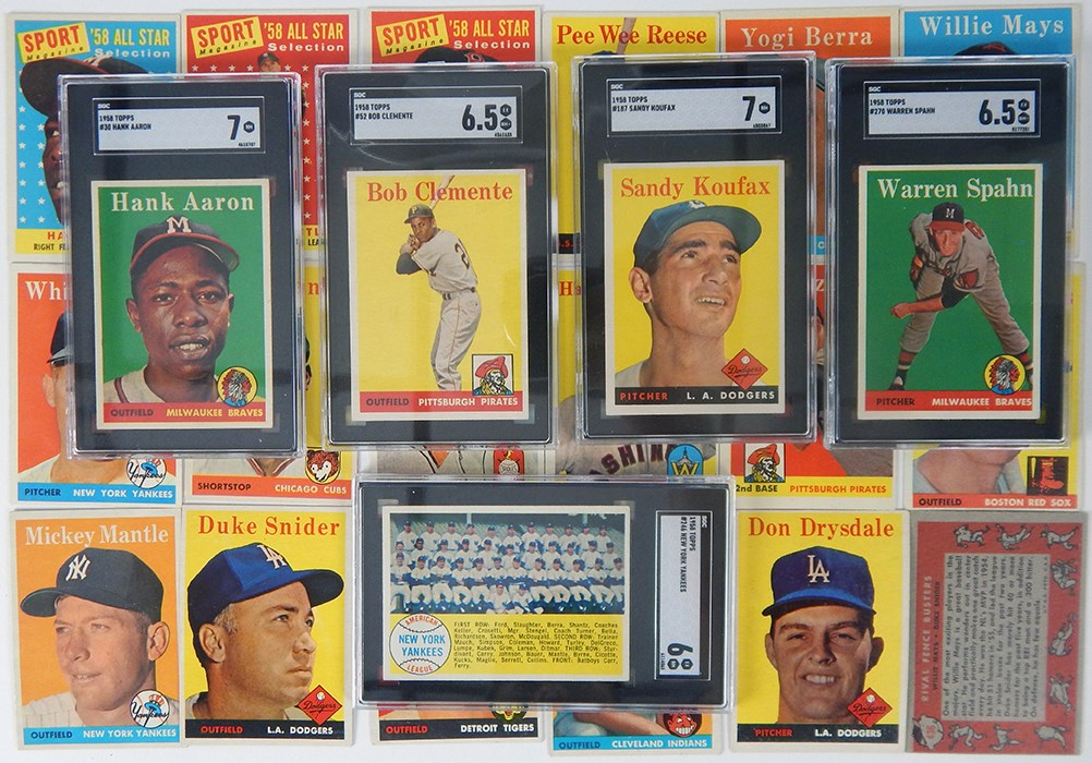 1958 Topps Baseball Complete Set w/ (9) SGC Graded