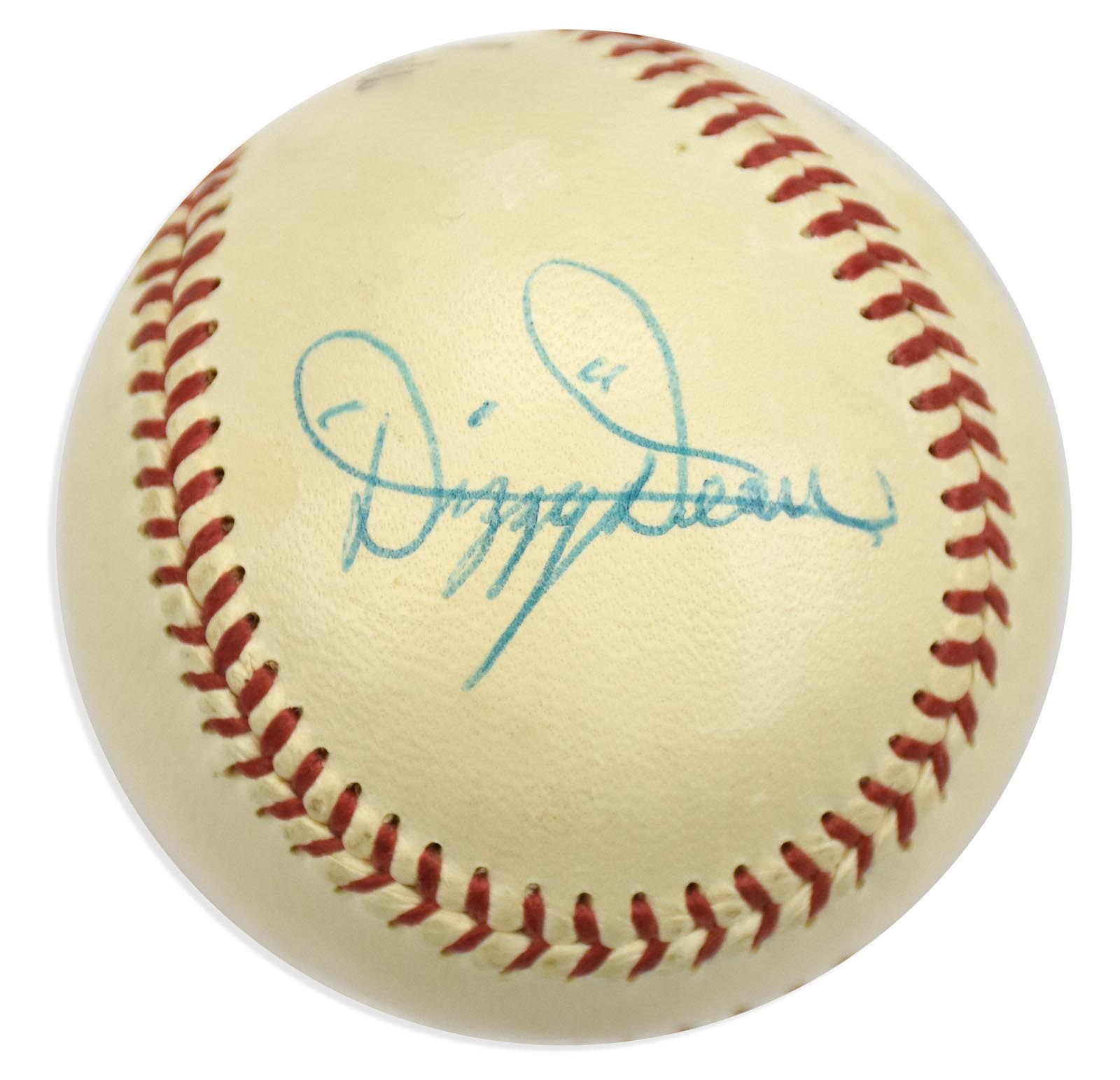 High Grade Dizzy Dean Single Signed Baseball (PSA NM-MT 8)