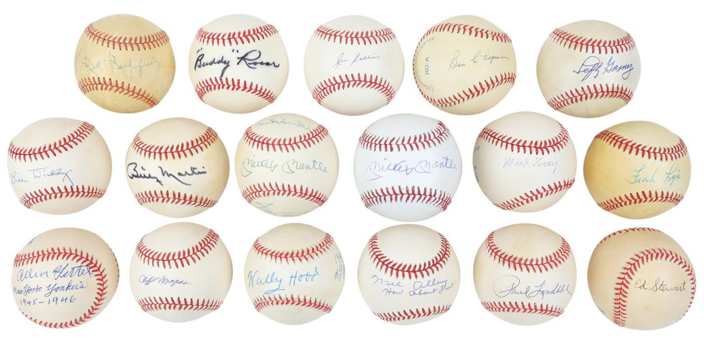 New York Yankees & Mets Single Signed Baseball Collection (260+)