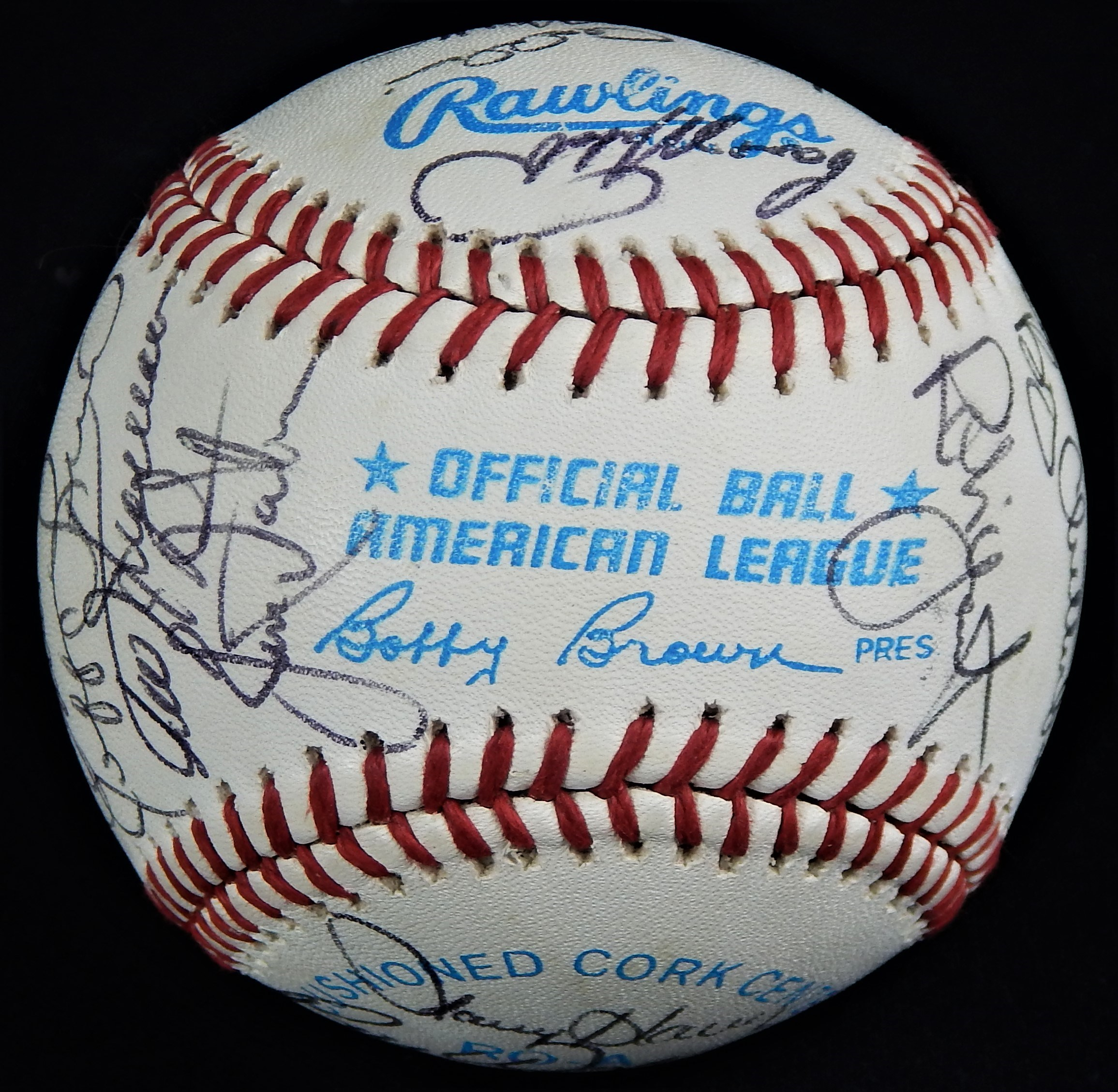 1988 Milwaukee Brewers Team Signed Baseball with Hall of Famers