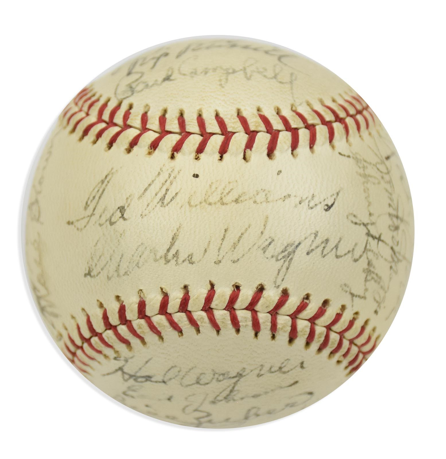 1946 American League Champion Boston Red Sox Team Signed Baseball (Beckett)