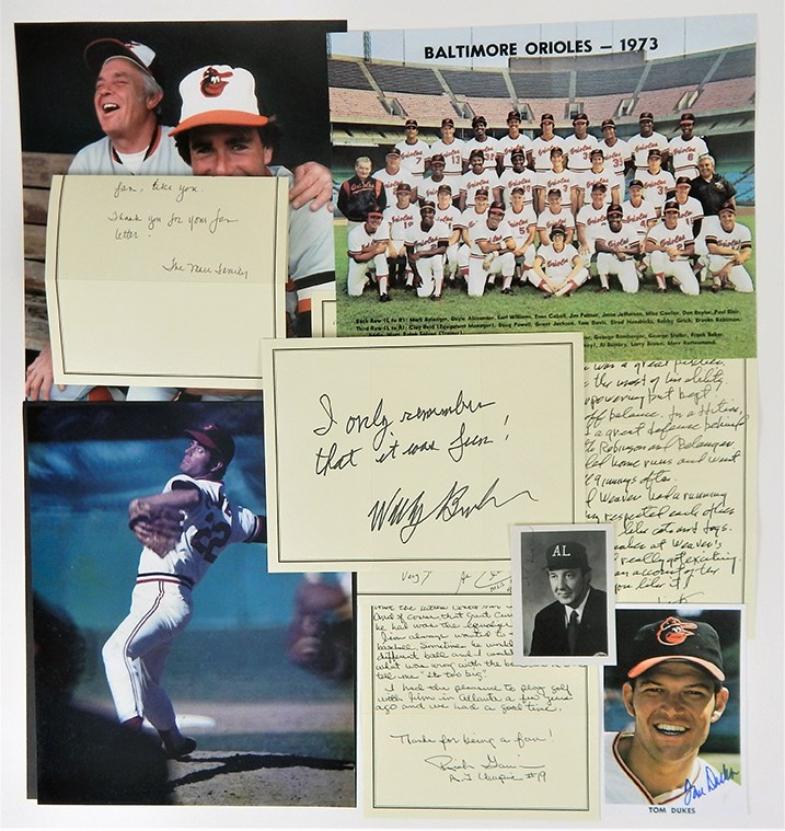 Jim Palmer Baltimore Orioles Letters with Great Content (29)