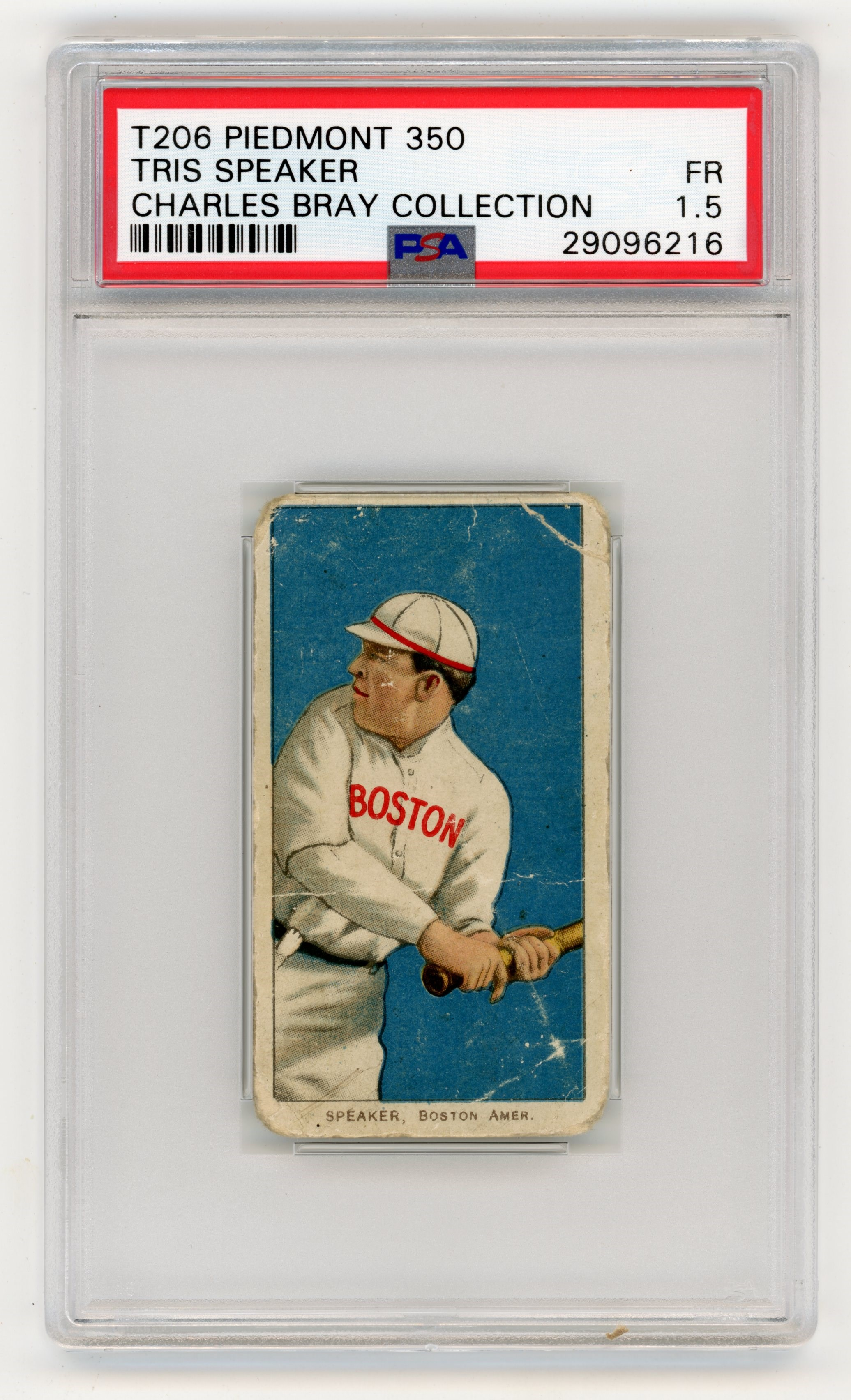 T206 Piedmont 350 Tris Speaker PSA 1.5 From The Charles Bray Collection