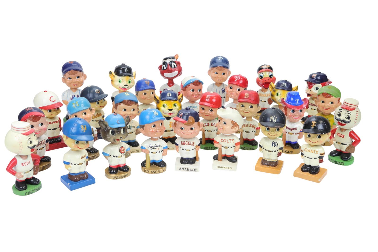 1960s Baseball Bobbing Head Collection (25+)