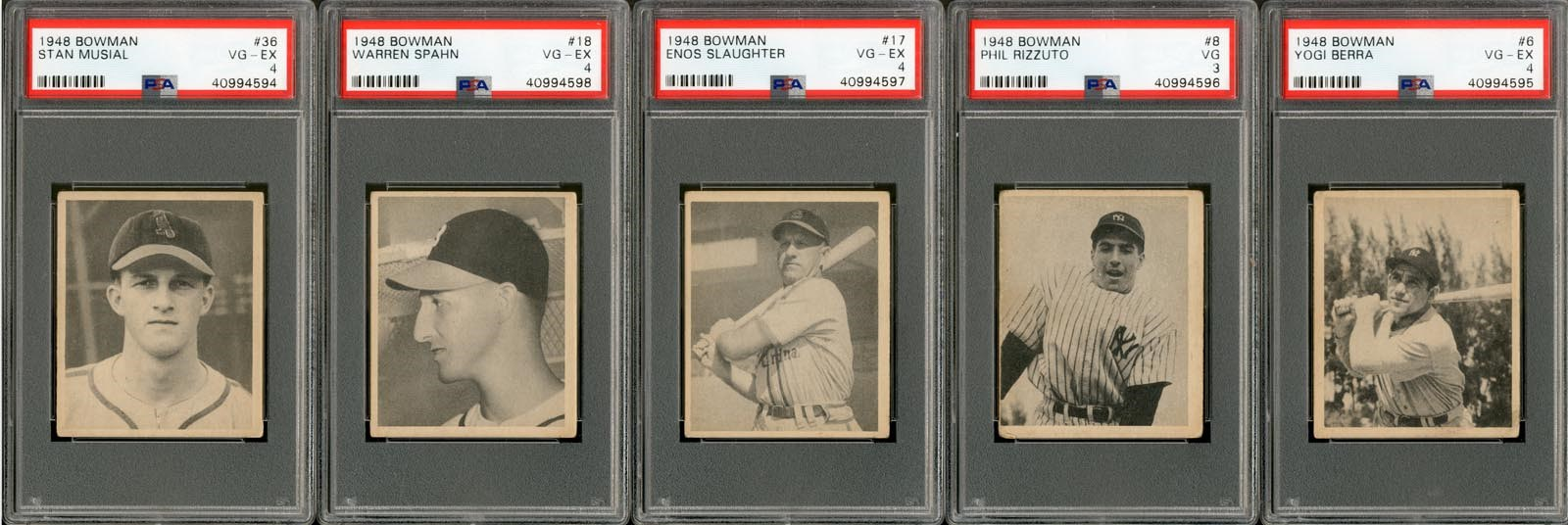 1948 Bowman Baseball Complete Set with (5) PSA Graded
