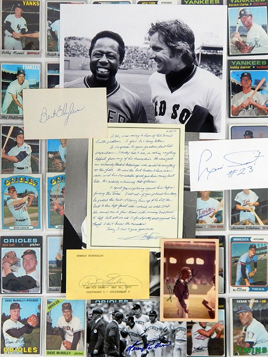 American League Cards, Letters, Photos and Autograph Lot (100+)