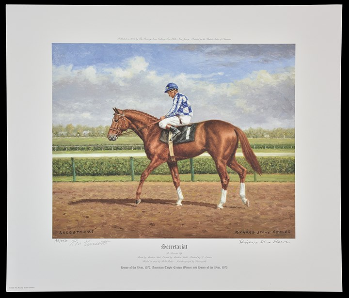 Richard Stone Reeves Secretariat & Kelso Print Set from Penny Chenery