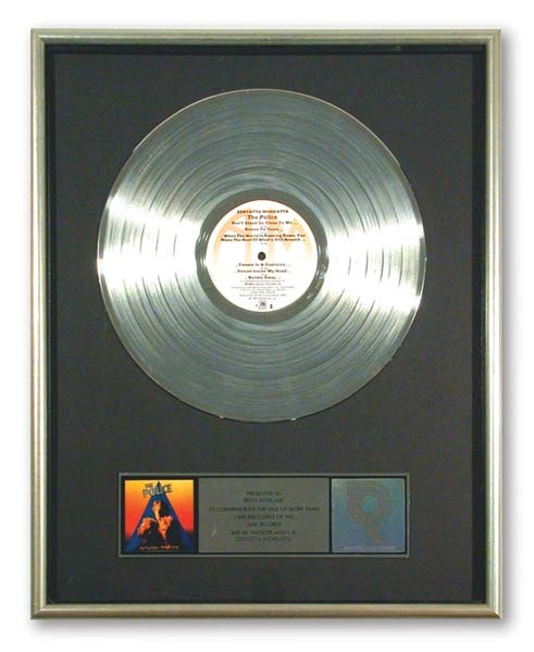 The Police Platinum Record Award