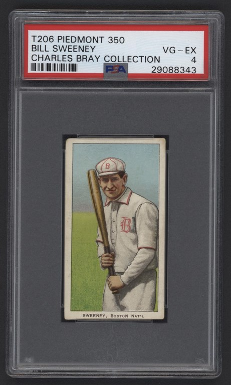 T206 Piedmont 350 Bill Sweeney PSA VG-EX 4 From The Charles Bray Collection