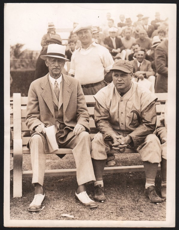 1934 Jimmie Foxx Holds Out & Connie Mack Looks Pissed Type 1 Photo