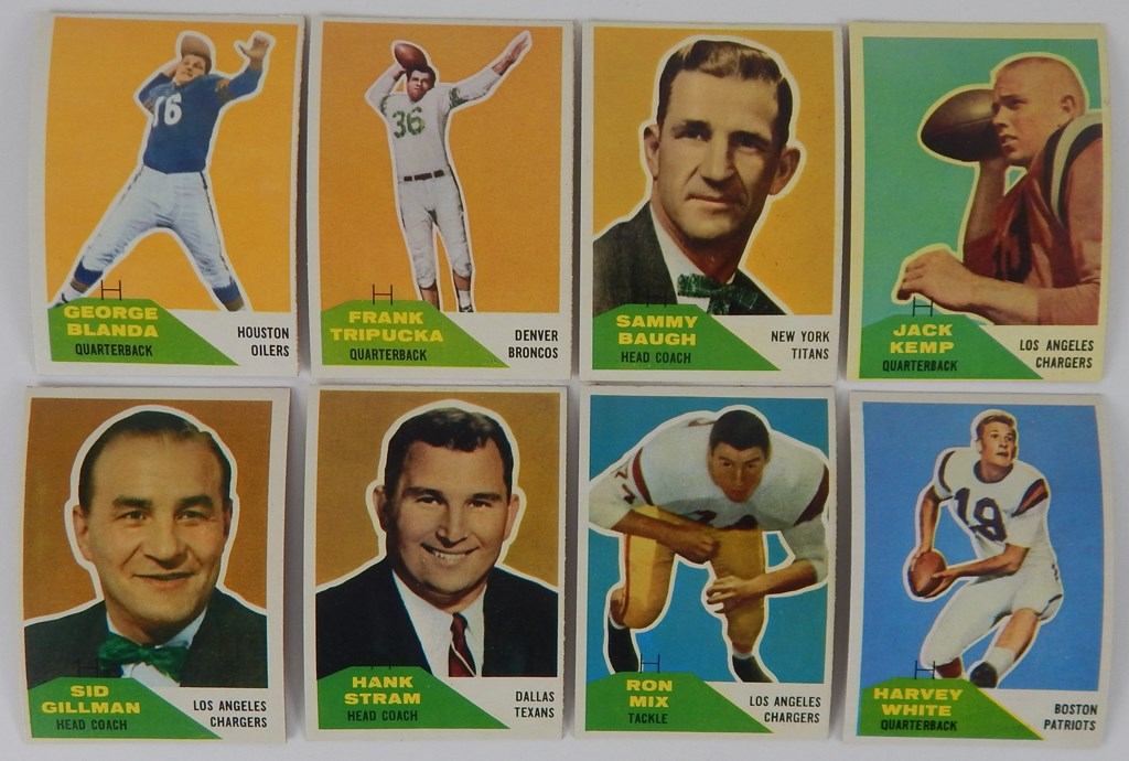 1960 Fleer Football Set Complete (132)