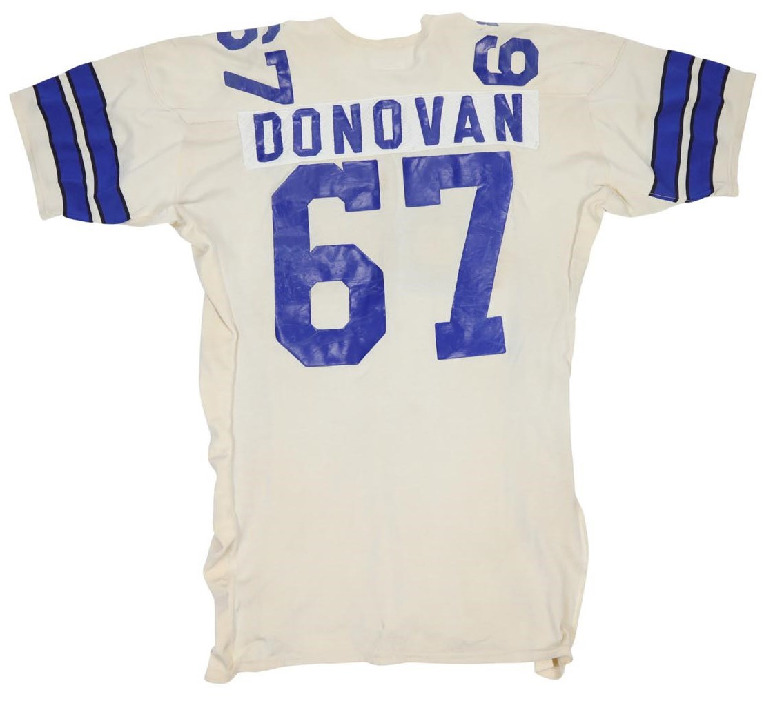 Mid-70s Pat Donovan Dallas Cowboys Game Worn Jersey