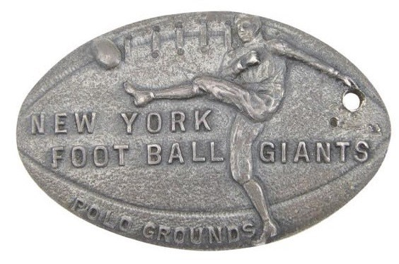 1926 NY Football Giants Polo Grounds Sterling Silver Season Pass