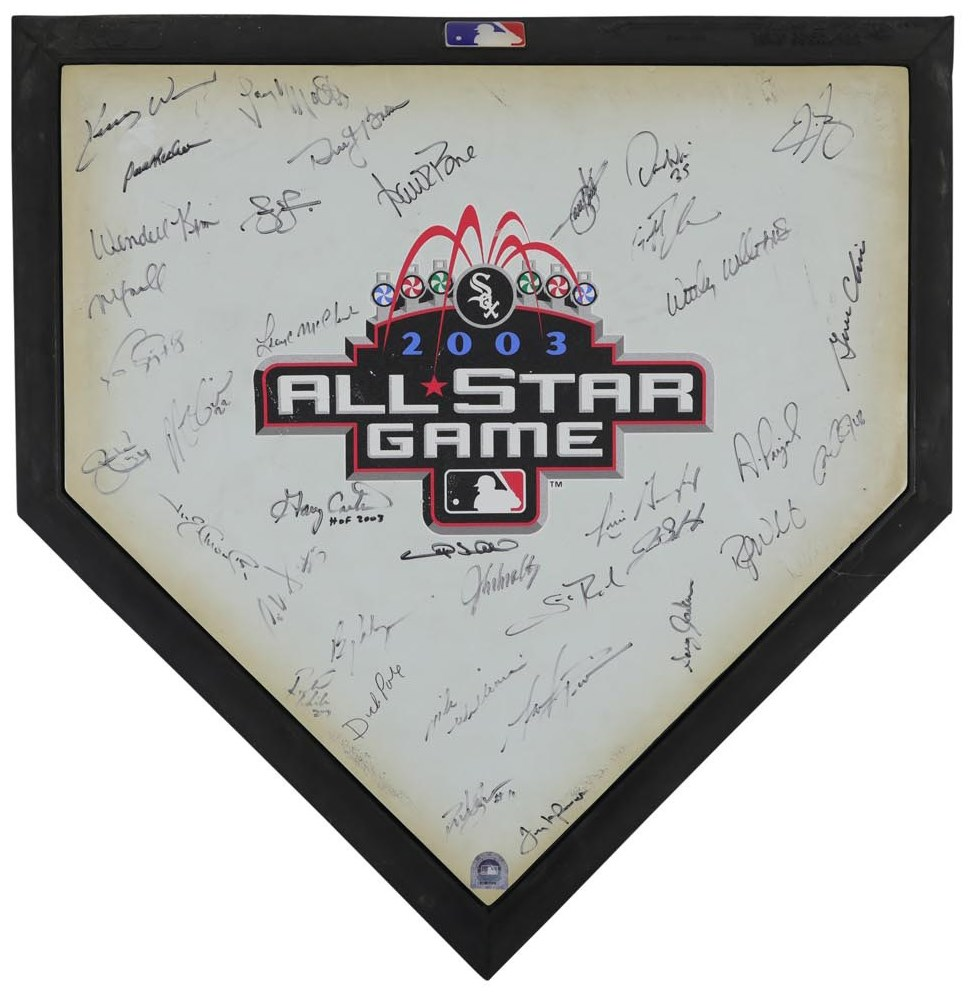 2003 National League All-Star Game Signed Home Plate (In Person w/ MLB Provenance)