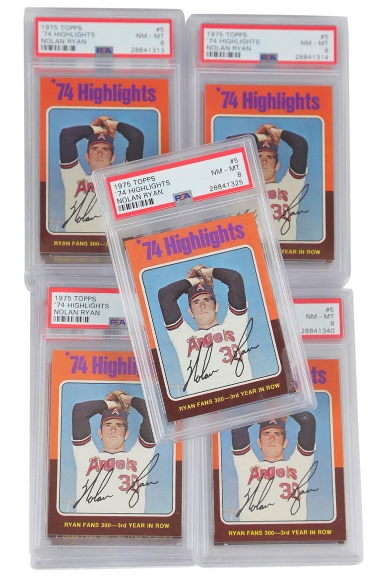 1975 Topps '74 Highlights Nolan Ryan #5 PSA NM-MT Lot of 15