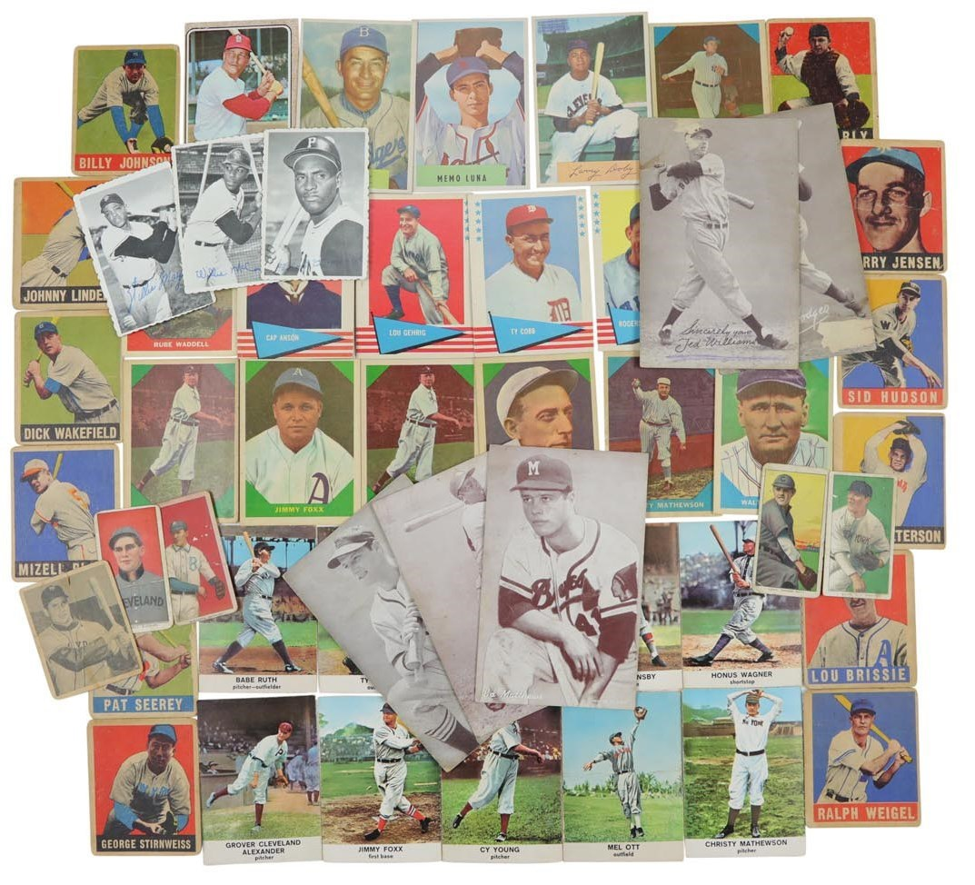 T206-1960s Topps, Leaf, Bowman, Exhibit & More Baseball Collection w/HOFers (1,250+ Cards)