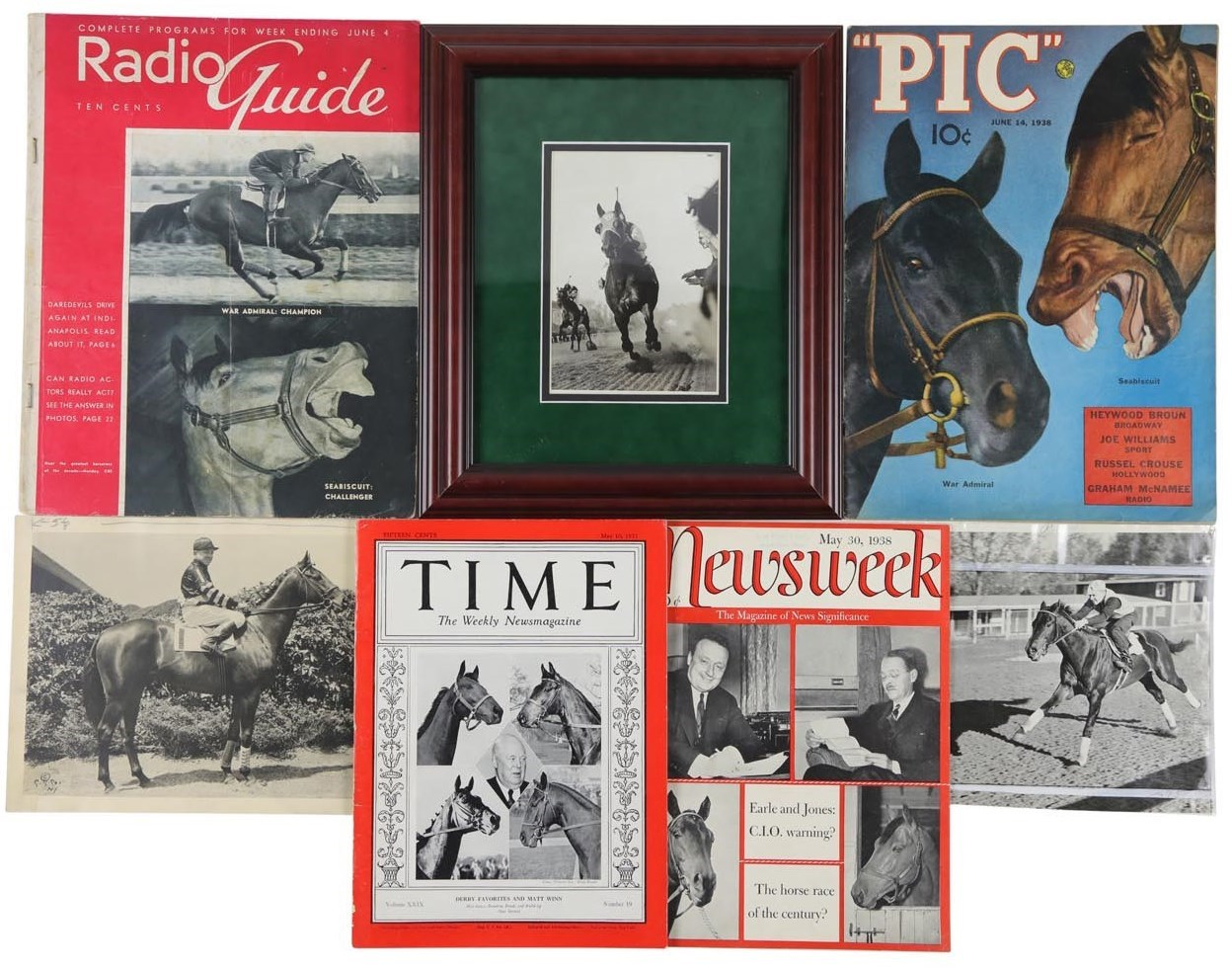 1938 War Admiral vs. Seabiscuit Match Race Collection (13)