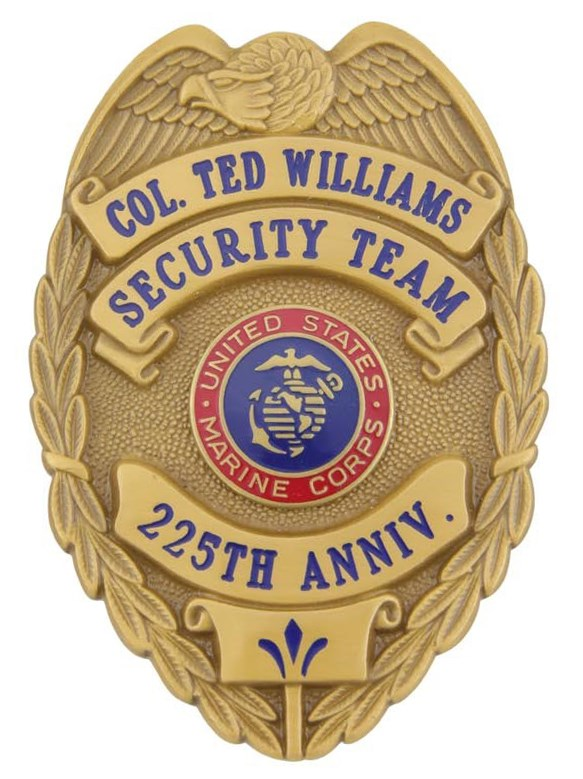 Ted Williams Security Team Badge