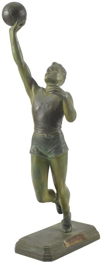 Stunning 1930's Art Deco Basketball Statue