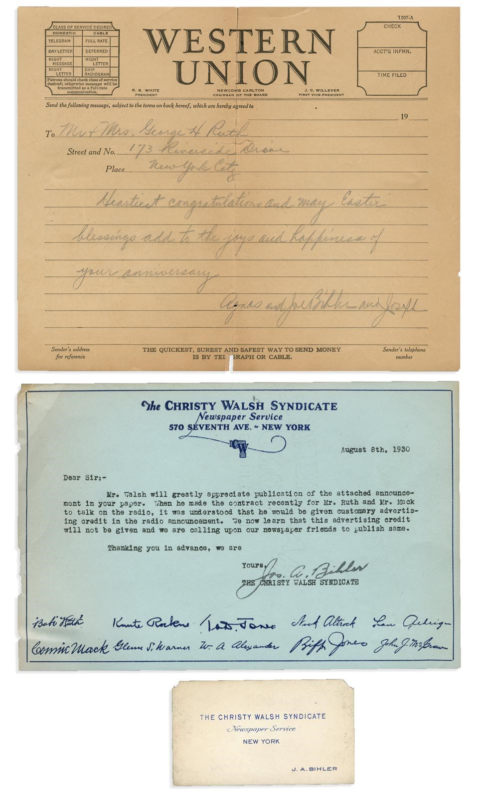 Collection Of Babe Ruth's Right Hand Man - auction