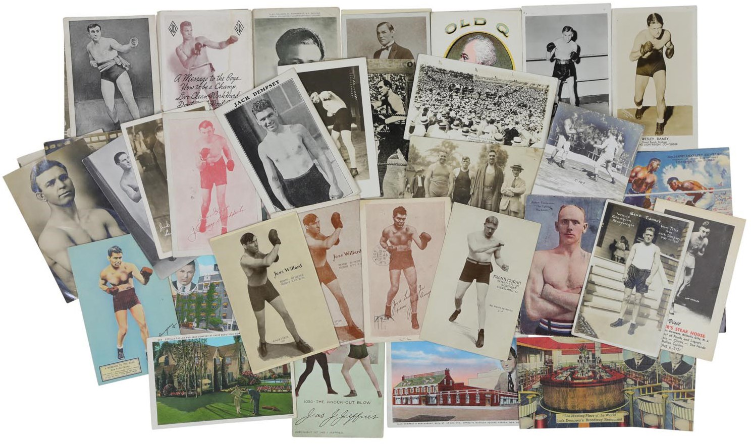 Impressive Boxing Postcard Collection (61)