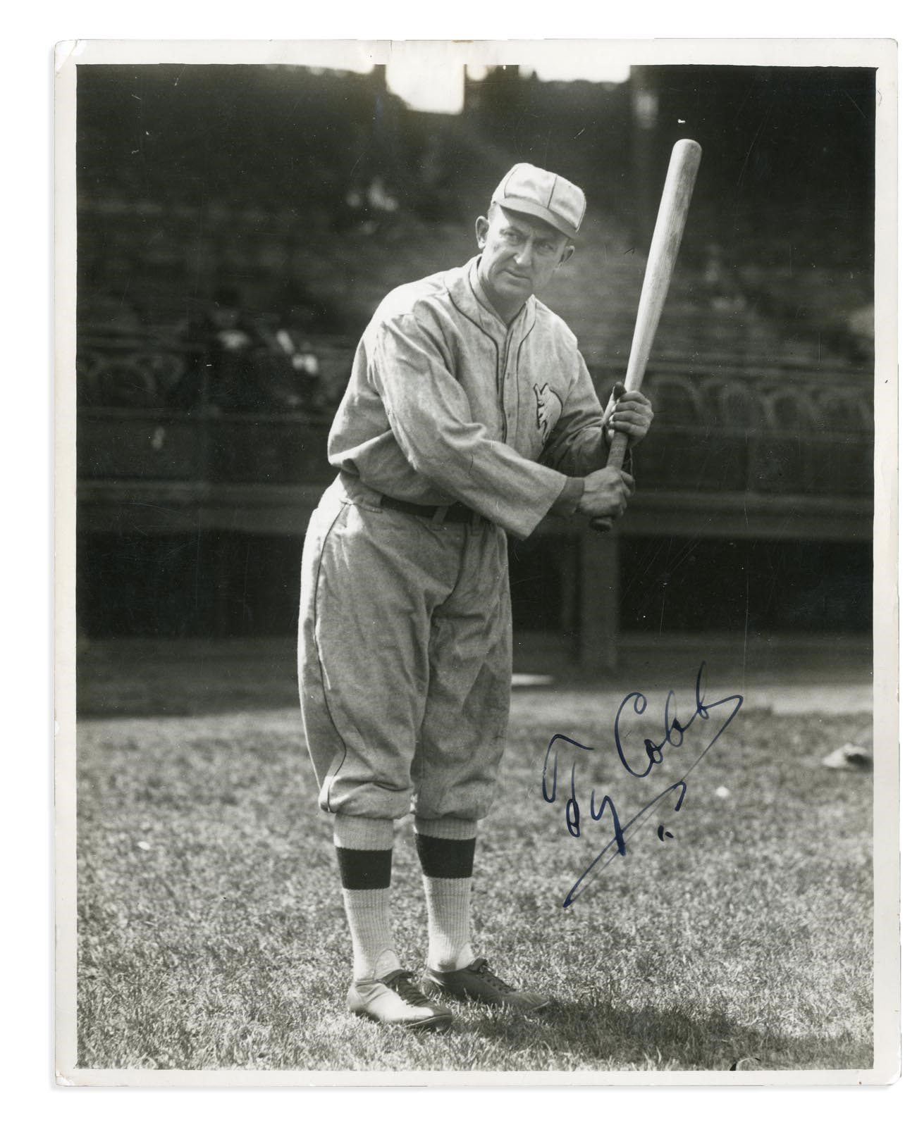 One of the Finest Ty Cobb Signed Photos Known (PSA)