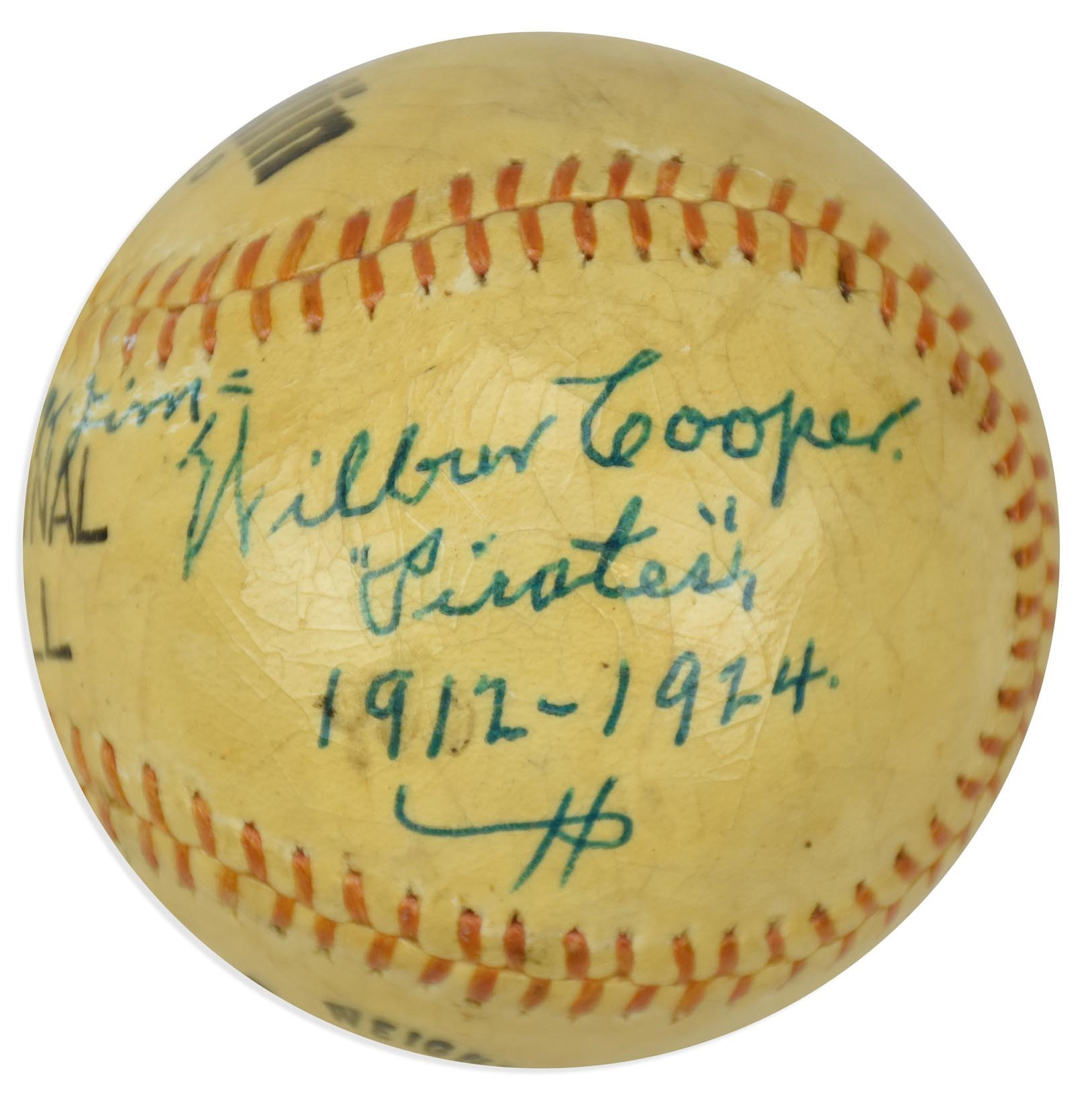 Scarce Wilbur Cooper Single Signed Baseball (PSA)