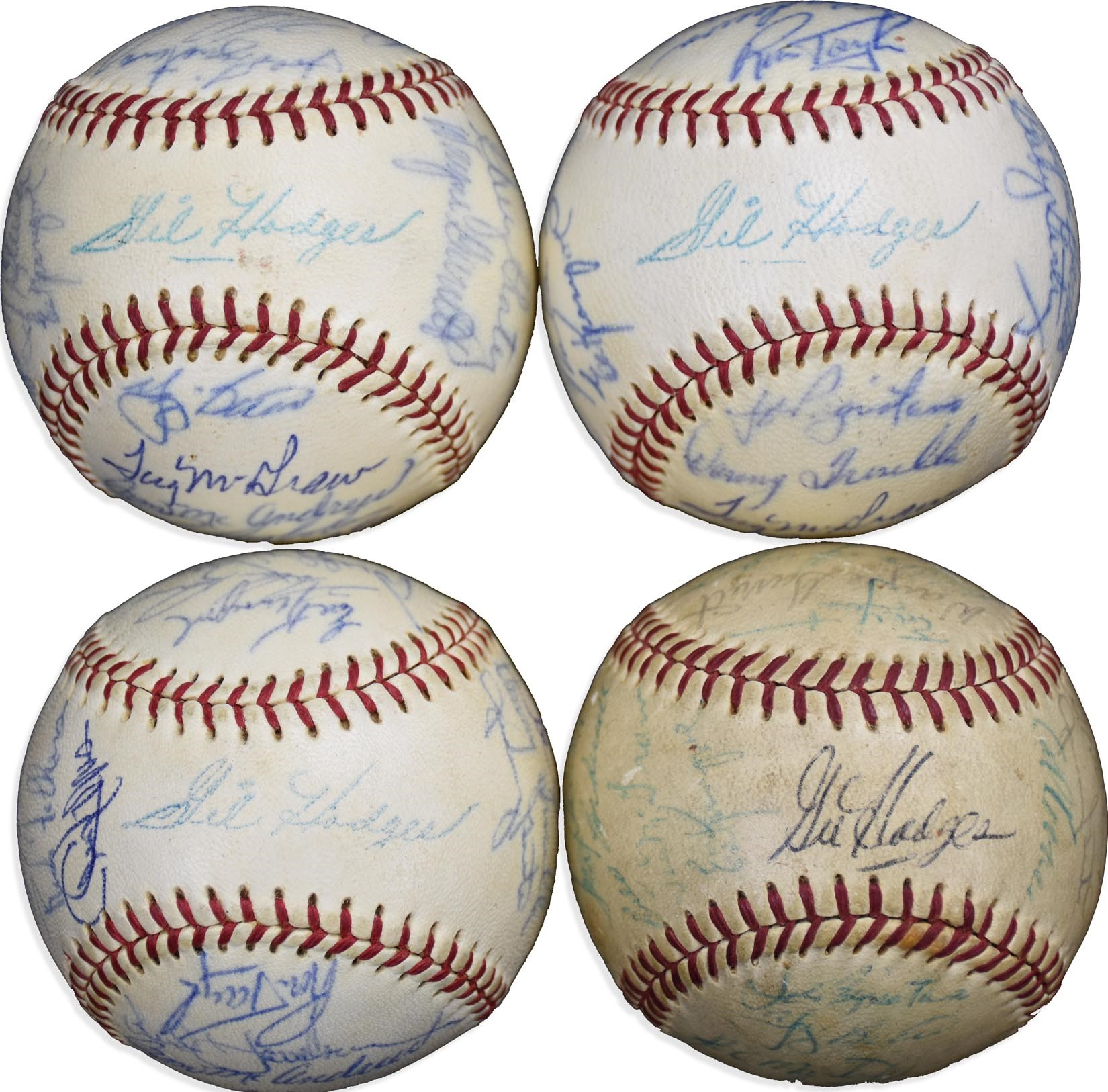 1969 World Champion & 1970 NY Mets Team-Signed Baseballs - Gifted by Ron Taylor (4)