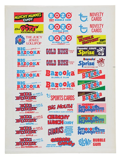 1960's-70's Non Sports Uncut Sheets & More From Topps Vault (14)