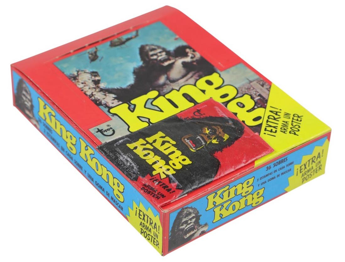 1976 Topps King Kong w/ One-Of-A-Kind Unopened Packs (3)
