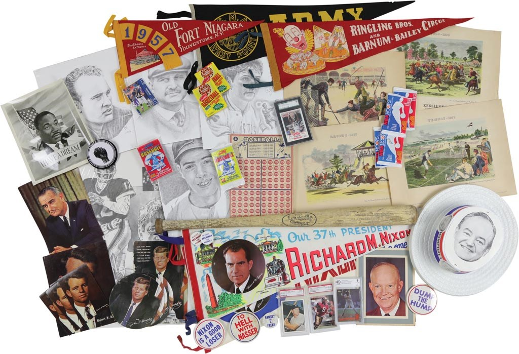 Vintage Baseball, Sports, Pop Culture & Political Collection of 53