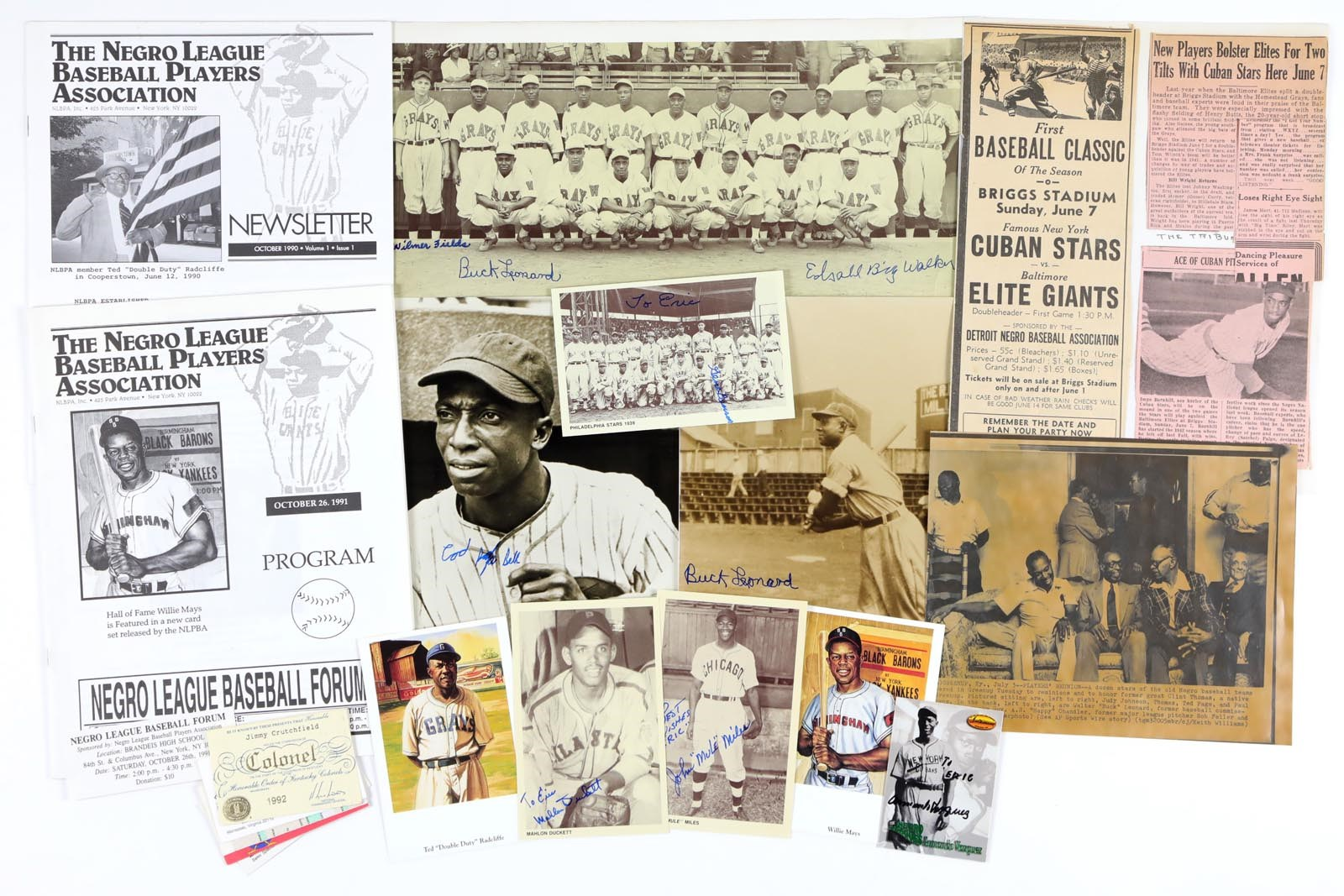 Negro League, Latin, Japanese & International Base - Monthly 12-18