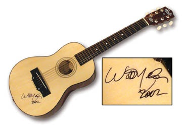 Willie Nelson Autographed Guitar