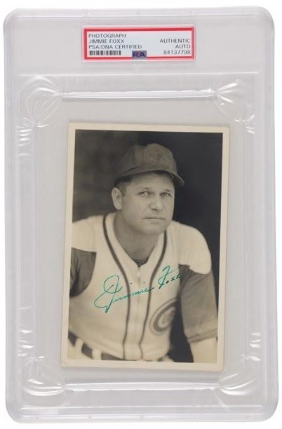 1940s Jimmie Foxx Signed Photograph by George Burke (PSA)