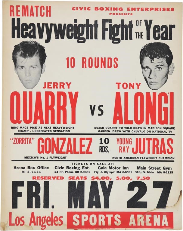 1966 Jerry Quarry Heavyweight Fight of the Year On-Site Poster