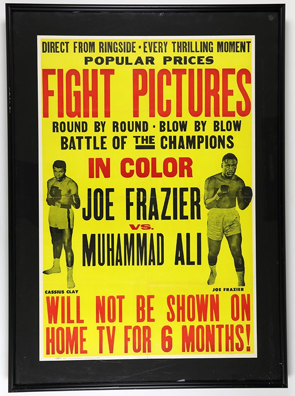 1971 Ali vs. Frazier Battle of the Champions Closed Circuit Poster