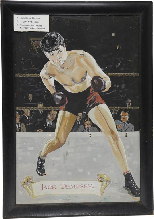 Jack Dempsey Original Painting by Ken Stowell